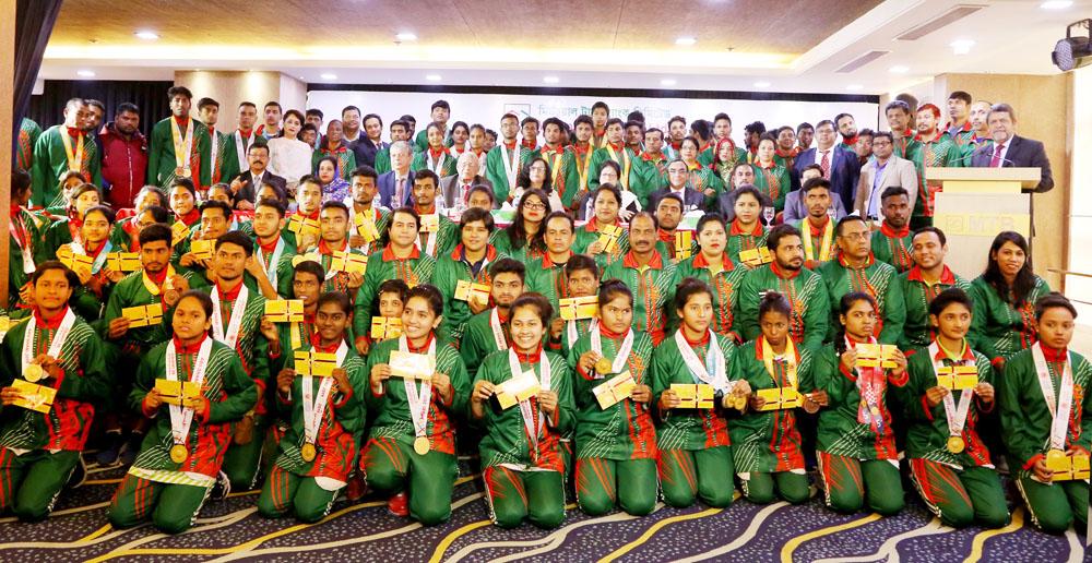 এমটিবি ফাউন্ডেশন-এর পক্ষ থেকে স্পেশাল অলিম্পিকস বাংলাদেশ দলকে সংবর্ধনা প্রদান